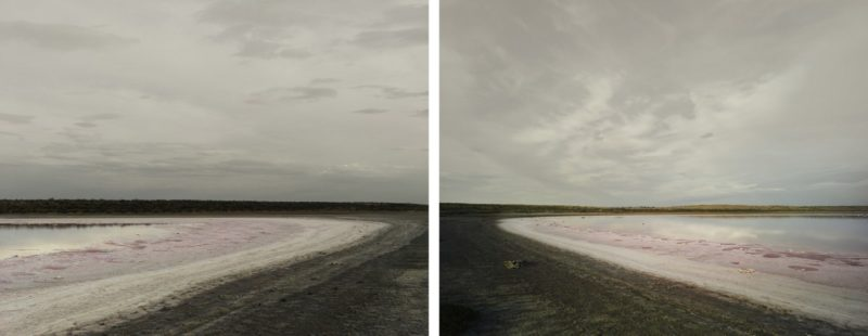 Nadav Kander - The Aral Sea Diptych (seabed), Kazakhstan, 2011