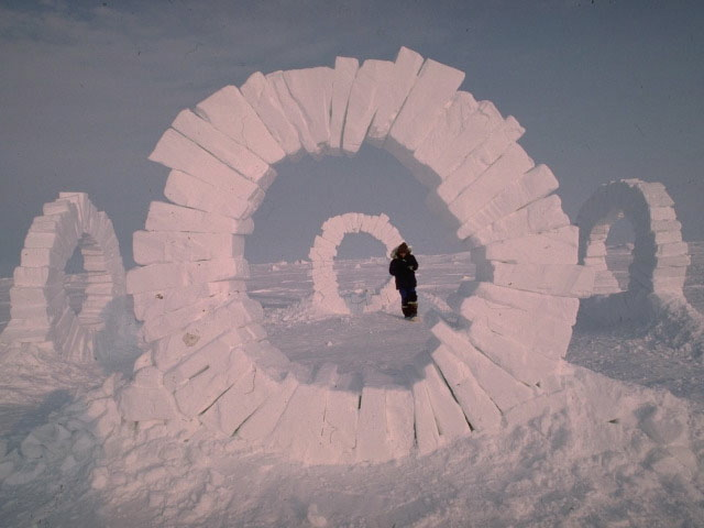 They quickly disappeared: Four massive ice sculptures at ...