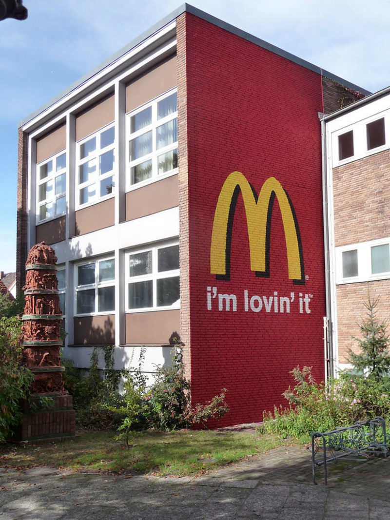 Brad Downey - Mc Donalds mural, 2009, Leuphana University, Lueneburg, Germany