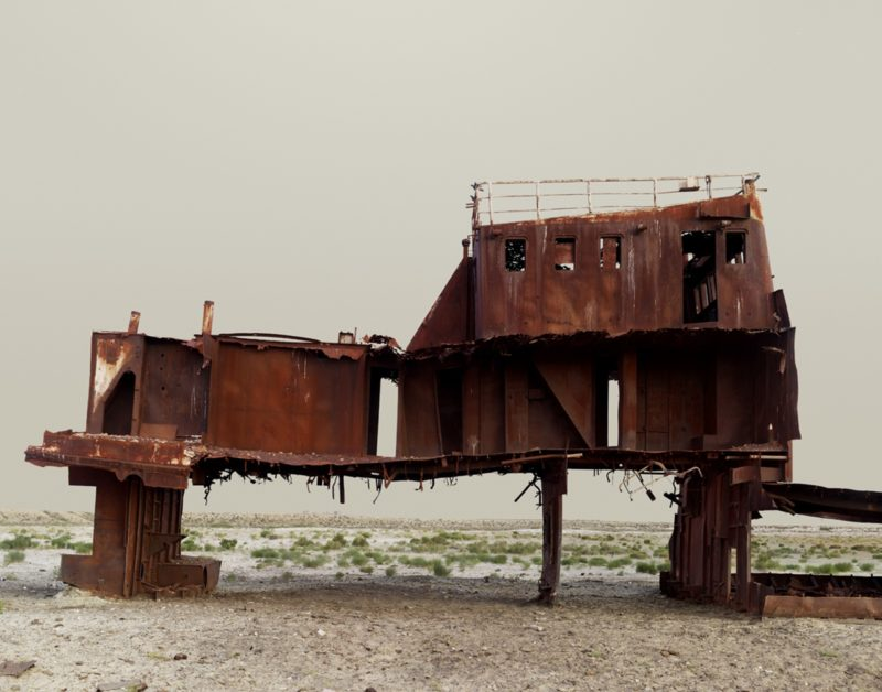 Nadav Kander – The Aral Sea III (Fishing Trawler), Kazakhstan, 2011