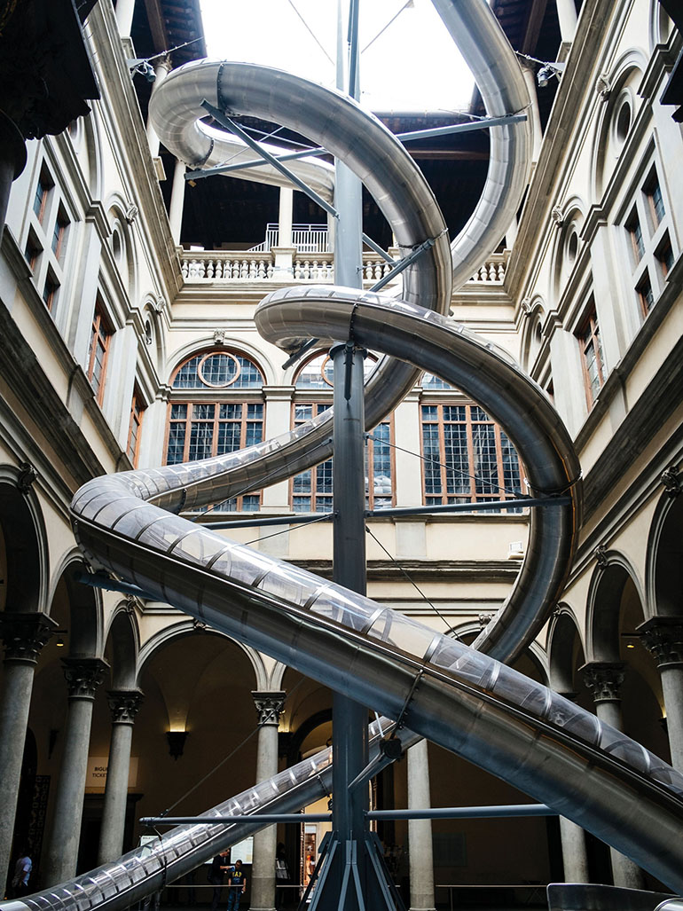 Carsten Höller's slides: A fun way to experience museums