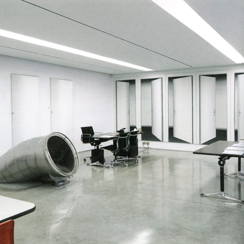 Carsten Höller - slide at Prada, The Milan headquarters, Italy, Miuccia Prada's office with entrance to slide