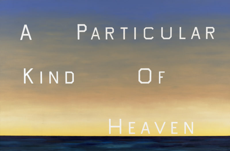Ed Ruscha - A Particular Kind of Heaven, 1983, oil on canvas, 90 x 136.5 in