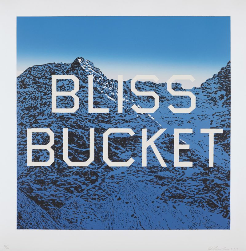 Ed Ruscha - Bliss Bucket, 2010, Lithograph in colors, on wove paper, 61 x 61 cm