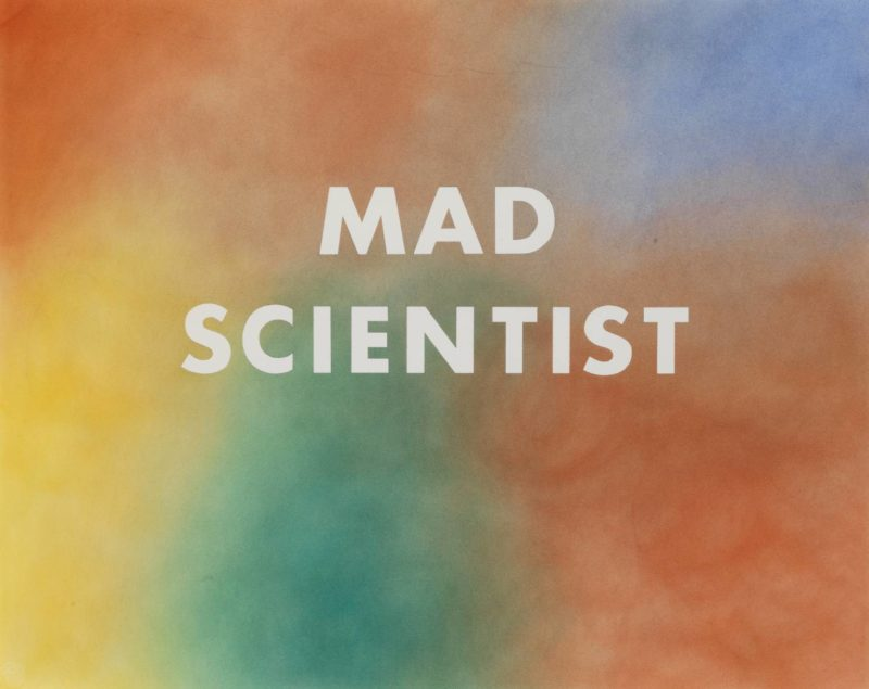 Ed Ruscha - MAD SCIENTIST, 1975, Pastel and graphite on paper, 57,8 x 72,4 cm