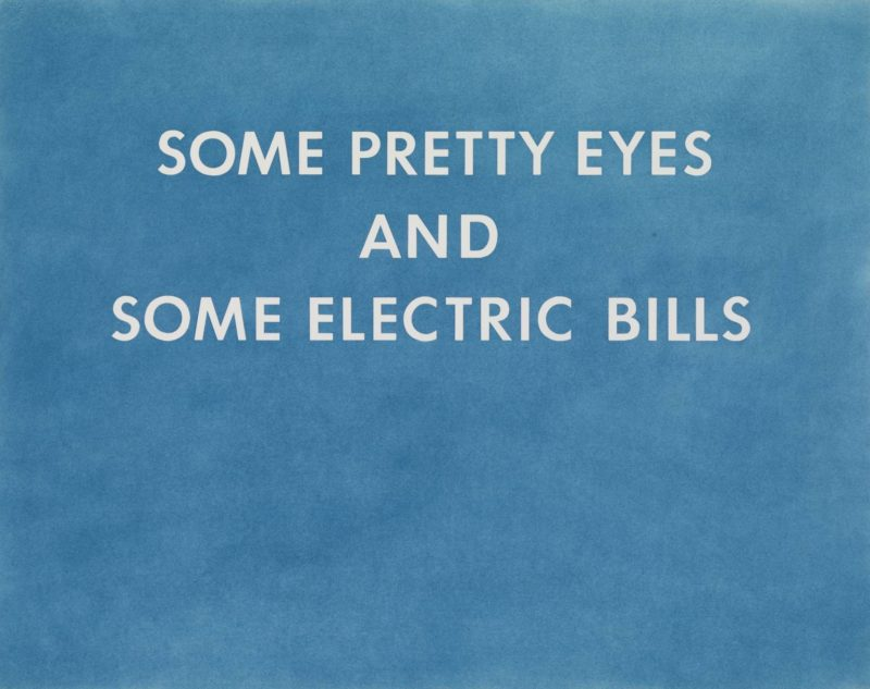 Ed Ruscha - PRETTY EYES, ELECTRIC BILLS, 1976, Pastel and graphite on paper, 57,4 x 72,1 cm