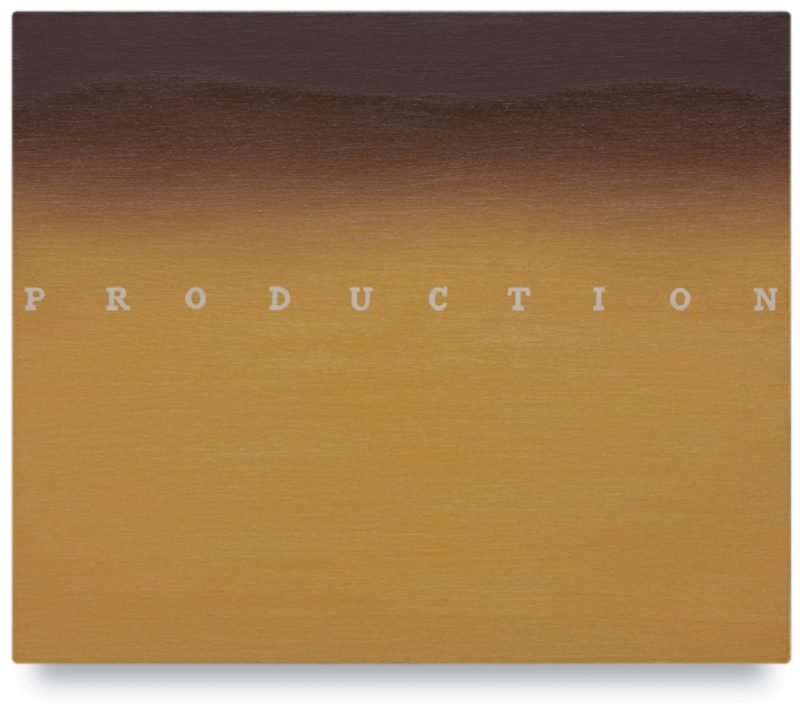 Ed Ruscha - Production, 1972, oil on canvas, 50.8 x 61 cm, 20 x 24 in.