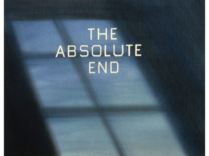 Ed Ruscha - The Absolute End, 1982, Dry pigment on paper, 23 x 29 inches