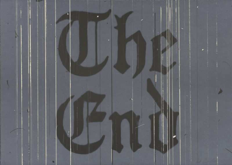 Ed Ruscha - The End, 1991, lithograph, 26.1875 x 36.8125 in