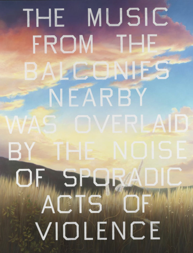 Ed Ruscha - The Music from the Balconies, 1984, oil on canvas, 51.50 x 205.70 cm