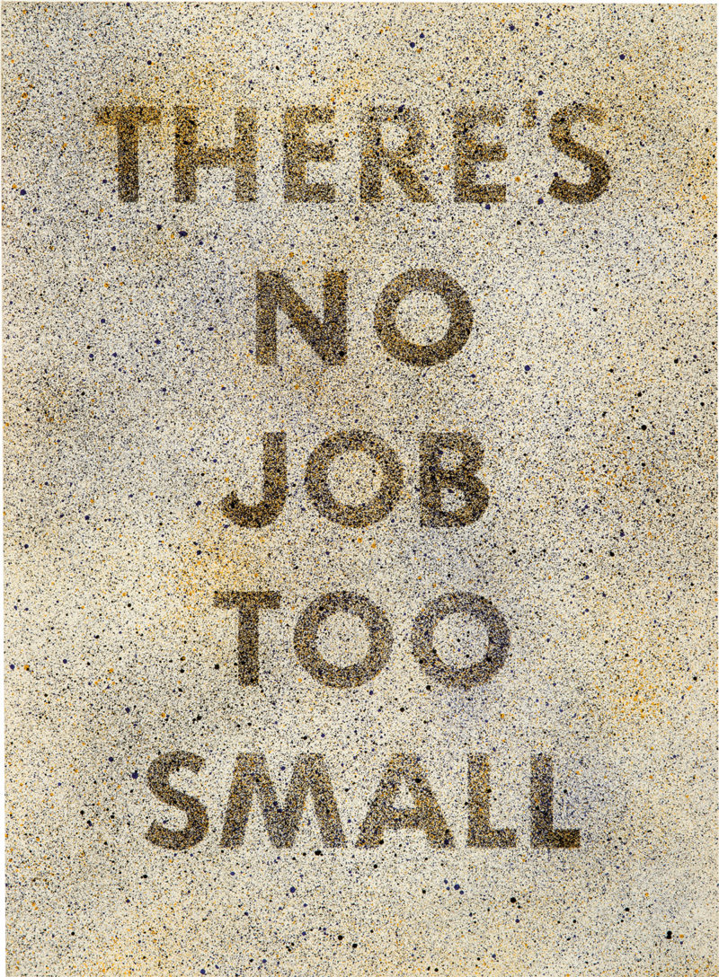 's No Job Too Small, 1975, lithograph on paper, 30 x 22 in