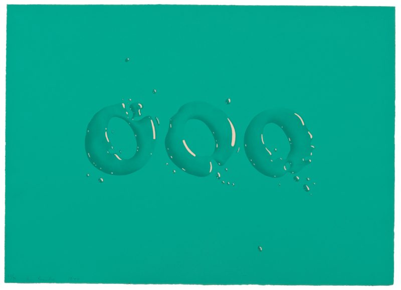 Edward Ruscha - OOO, 1970, two-color lithograph, 51.1 x 70.5 cm