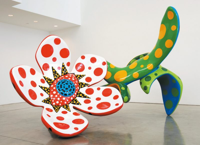 Yayoi Kusama - Flowers that Bloom at Midnight 2010, fibreglass-reinforced plastic, urethane paint, installation view at Gagosian Gallery, Los Angeles