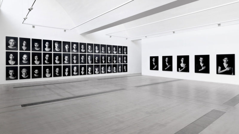Shirin Neshat - Installation view of The Book of Kings at Faurschou Foundation Beijing. Photo by Jonathan Leijonhufvud