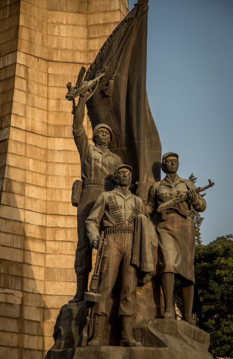 The Mansudae Overseas Project - Ethiopia - By Andrew Moore from Johannesburg, South Africa (Statue - Tiglachin Monument (1984)) [CC BY-SA 2.0], via Wikimedia Commons