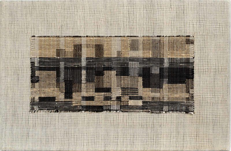 Anni Albers - City, 1949, Linen and cotton pictorial weaving, 17 1:2 × 26 1:2 in, 44.5 × 67.3 cm