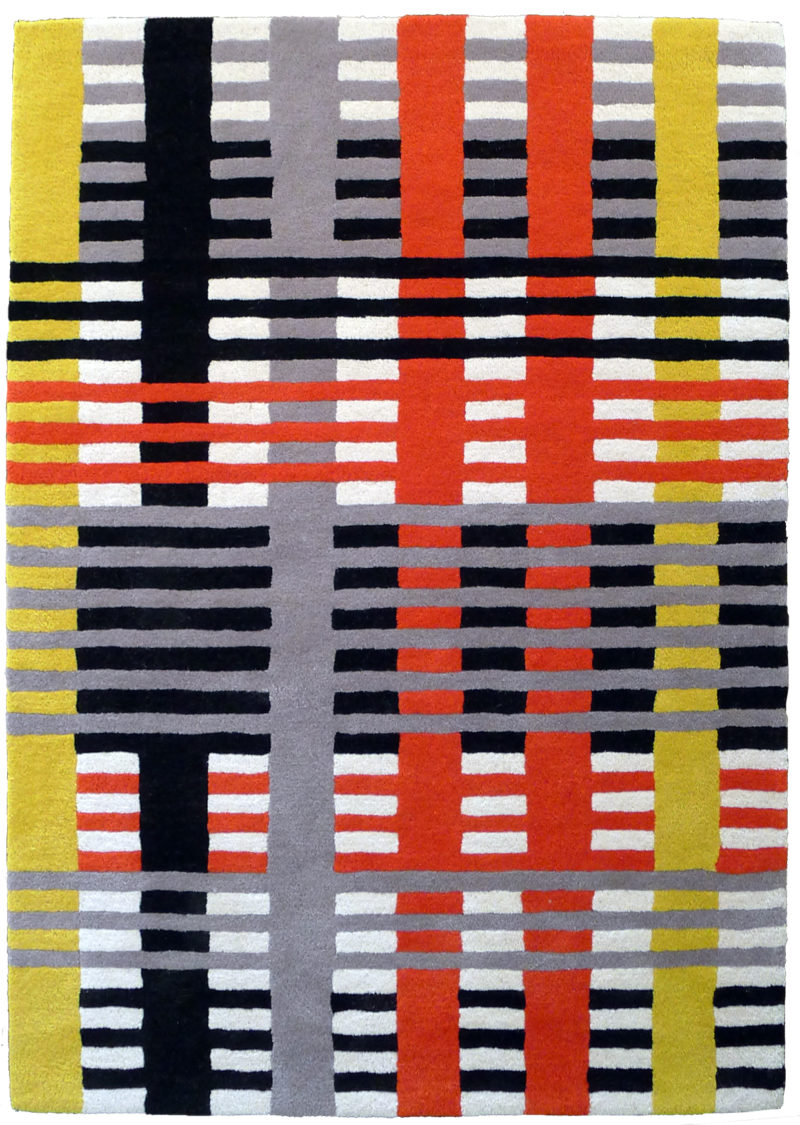 Anni Albers - Design for a 1926 Unexecuted Wallhanging, 1926, Gouache and pencil on reprographic paper, 15 1:8 x 9 7:8 inches (38.4 x 25.1 cm)