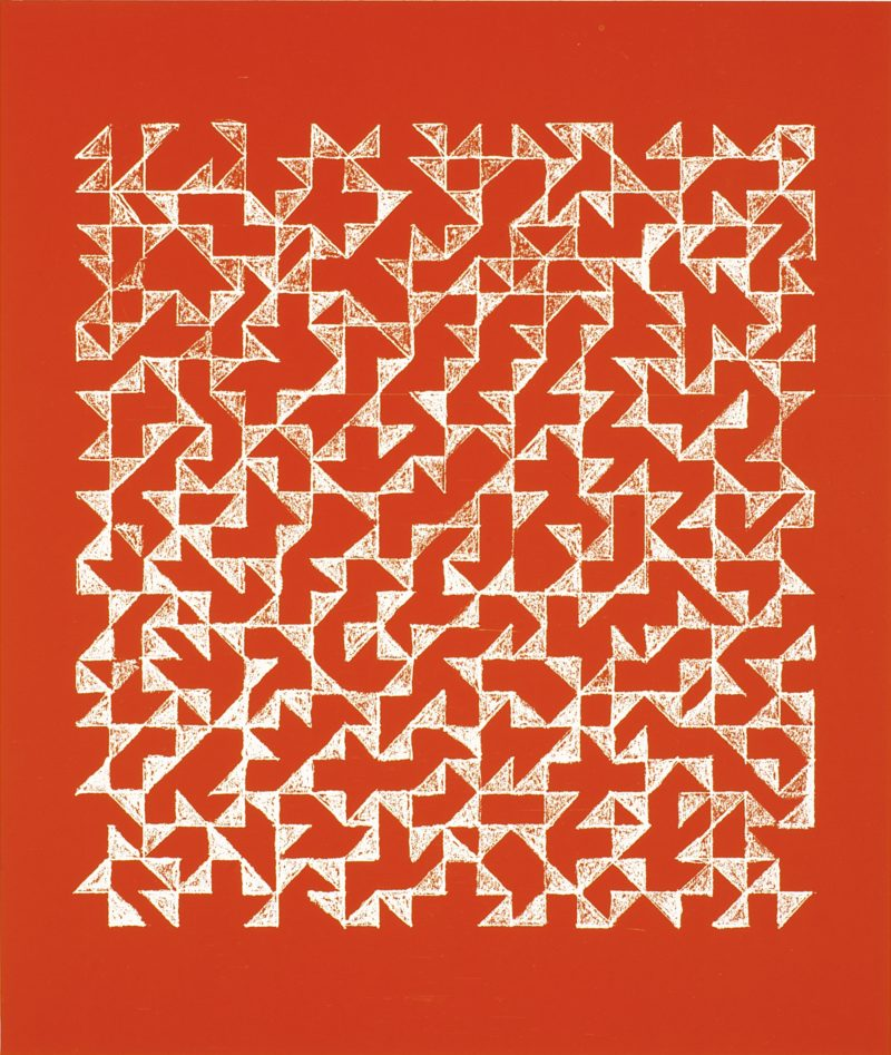 Anni Albers - Double Impression II, 1978, Photo-offset, 27.94 x 22.86 cm, Edition of 50