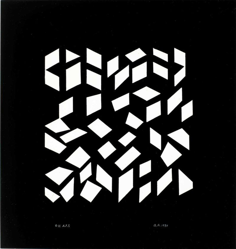 Anni Albers - Orchestra III, 1980, Photo-offset, 18 × 17 in, 45.7 × 43.2 cm, Edition of 50