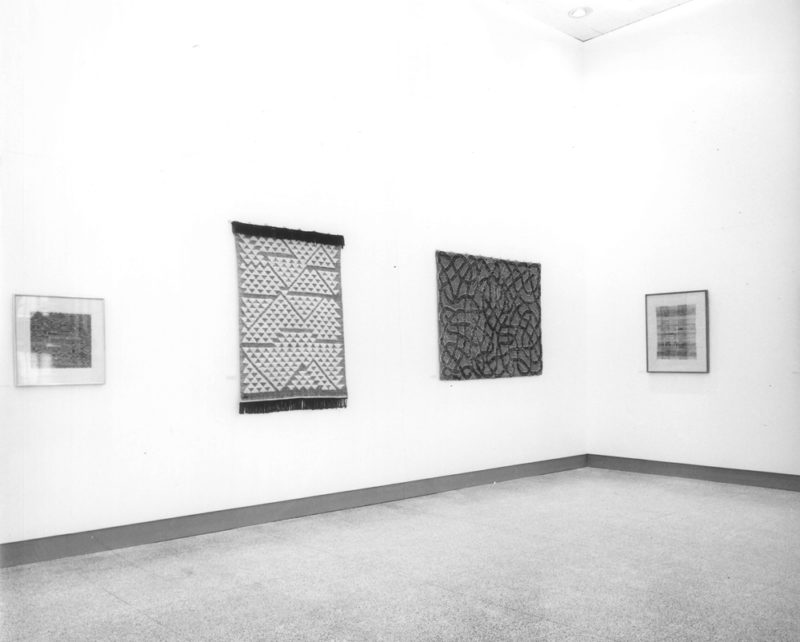 Anni Albers - Pictorial Weavings, Installation view at MIT New Gallery, 1959. Anni Albers With Verticals, 1946