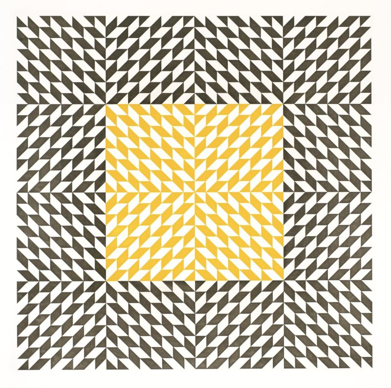 Anni Albers - Second Movement II, 1978, color etching and aquatint, 38.875 x 38.875 in