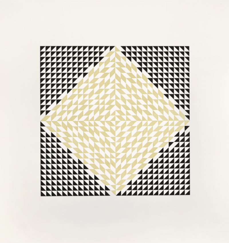 Anni Albers - Second Movement V, 1978, color etching and aquatin, 17-5:16 x 17-7:16 in (image)