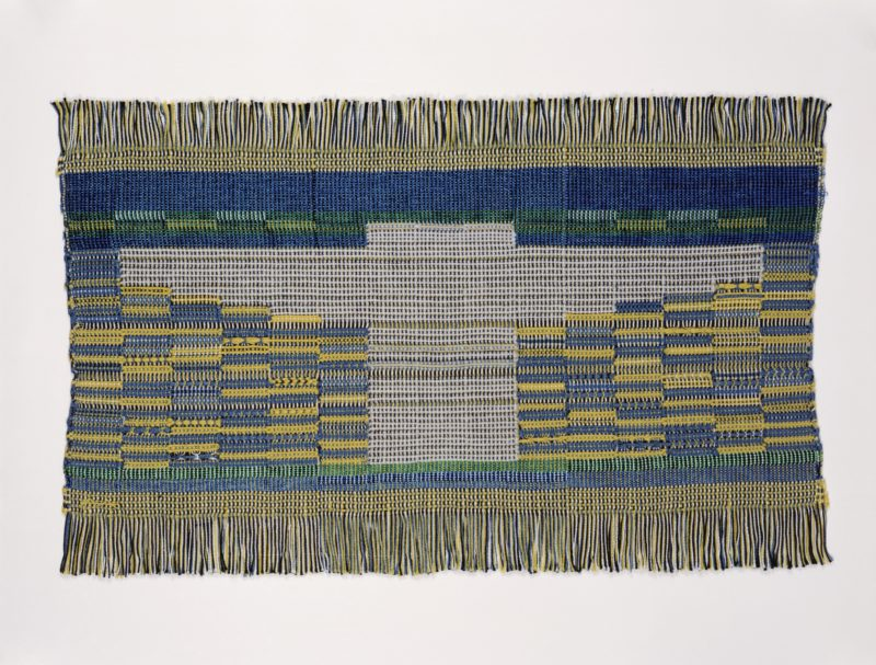 Anni Albers - Sheep May Safely Graze, 1959, Cotton, synthetic fiber; woven- plain weave and leno, 36.8 x 59.7 cm