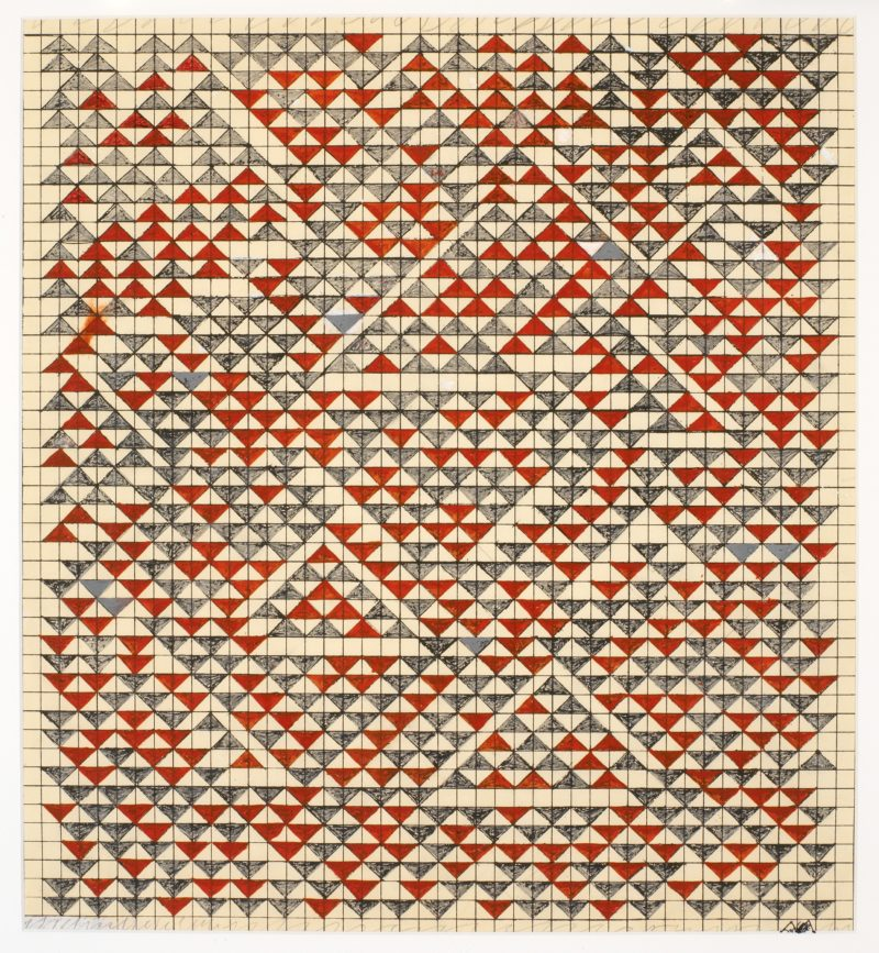 Anni Albers - Study for Camino Real, 1967. Gouache on blueprint graph paper, 171⁄2 × 16 in. (44.4 × 40.6 cm)