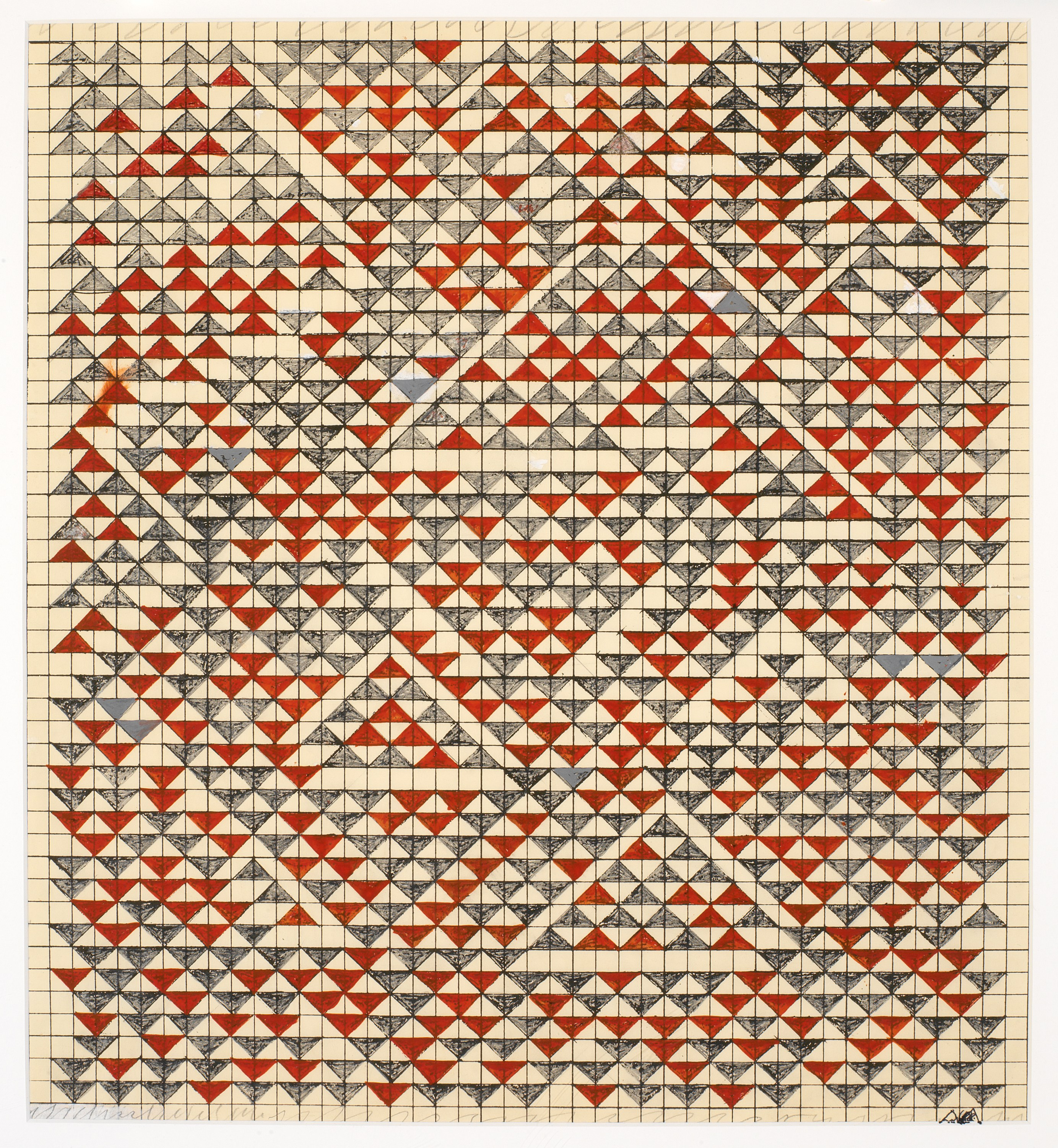 Anni albers leading textile artist of the 20th century public anni albers study for camino real 1967 gouache on blueprint graph paper malvernweather Image collections