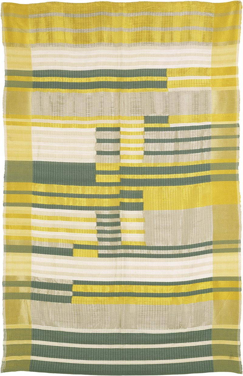 Anni Albers - Wallhanging, 1925, silk, cotton, acetate 50 × 38 in. (127 × 96.5 cm)