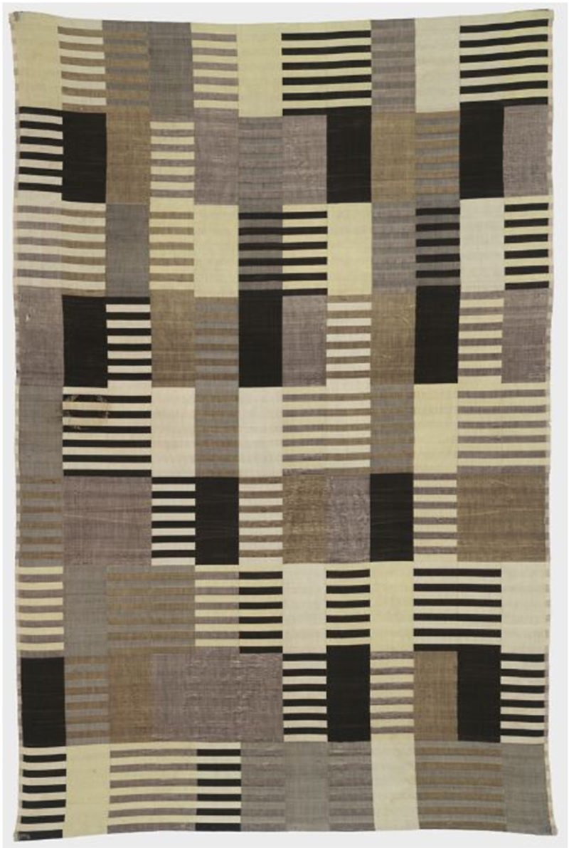 Anni Albers - Wallhanging, 1926, silk 72 × 48 in. (182.9 × 122 cm)