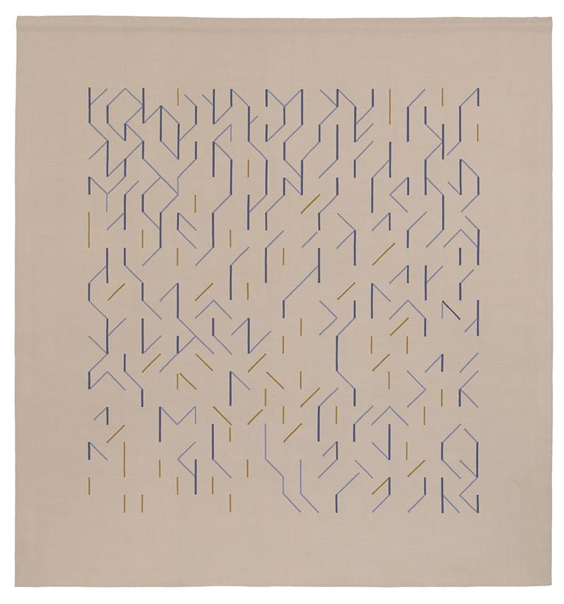 Anni Albers - Wallhanging, 1984, wool 98 × 89 in. (243.8 × 226 cm)