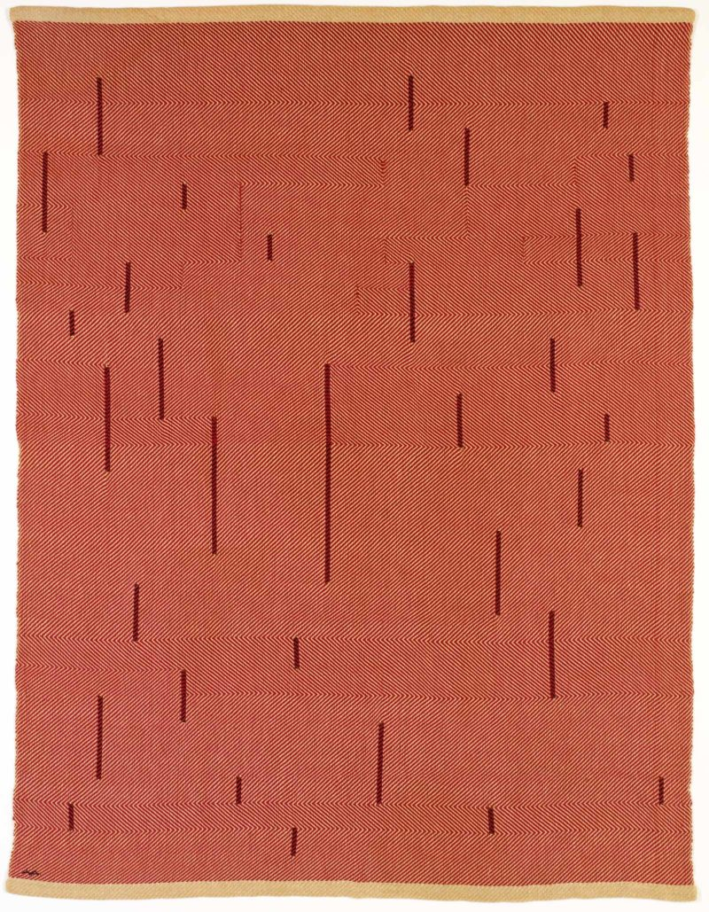 Anni Albers - With Verticals, 1946, cotton and linen, 154.9 x 118.1 cm