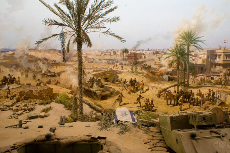 Scene from the 360 degree rotating panorama of the 6 October War Memorial in Cairo, Egypt