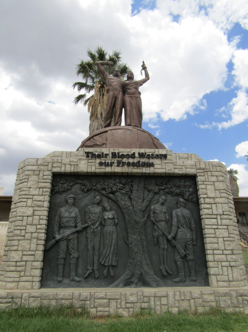 Their Blood Waters Our Freedom, Genocide memorial in front of the Independence Memorial Museum, 2014 – Windhoek, Namibia, photo: