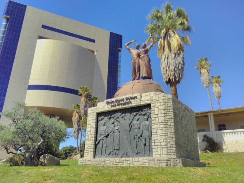 Their Blood Waters Our Freedom, Genocide memorial in front of the Independence Memorial Museum, 2014 - Windhoek, Namibia