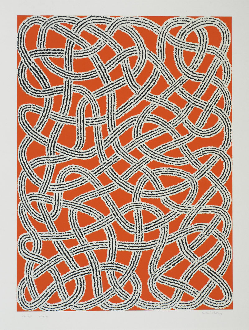 Anni Albers - Study for Nylon Rug from Connections, 1983, screenprint, 69.5 × 49.5 cm (27 3:8 × 19 1:2)