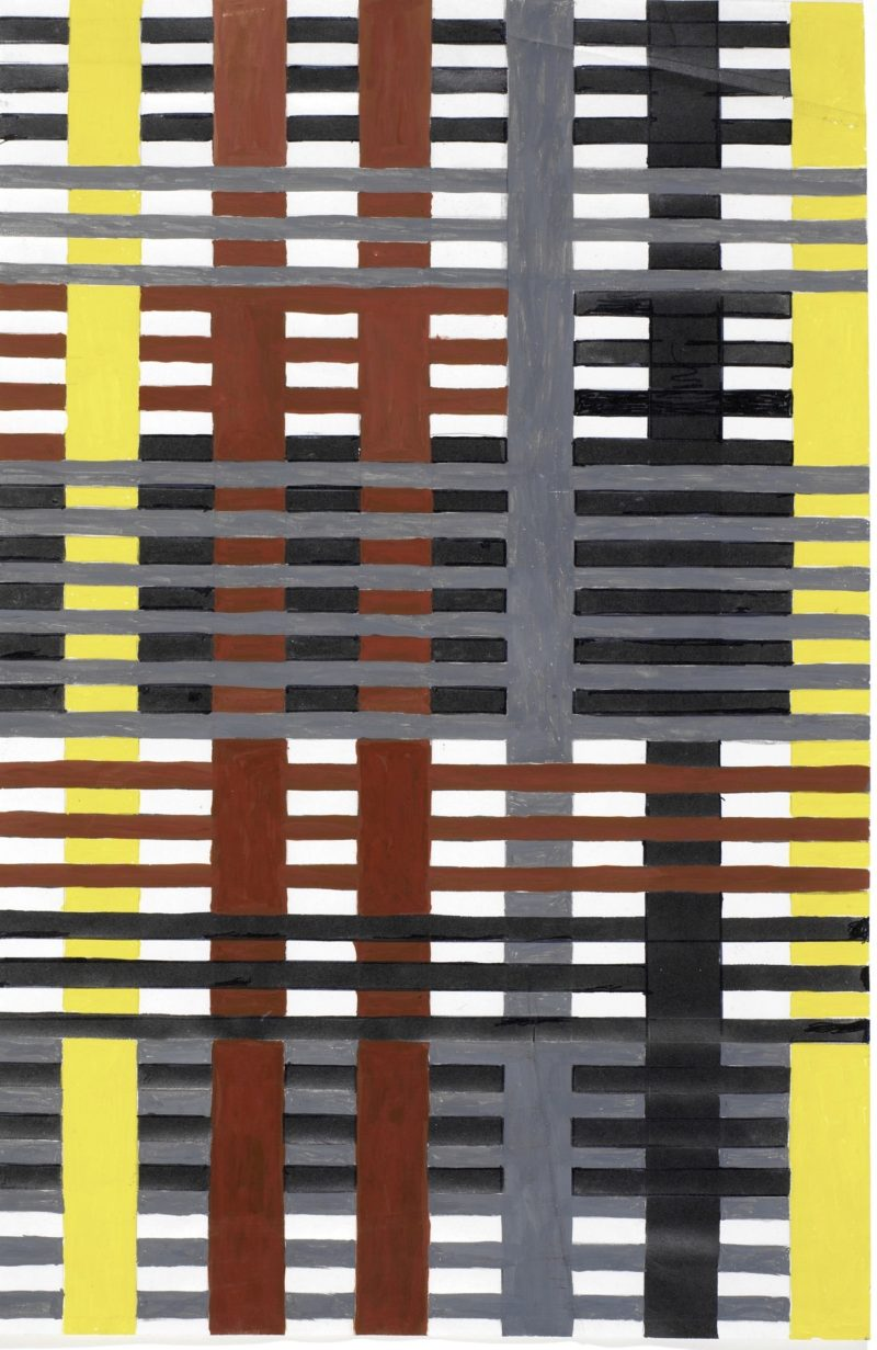 Anni Albers - Study for an unexecuted wallhanging, 1926 Gouache with pencil on photo offset paper