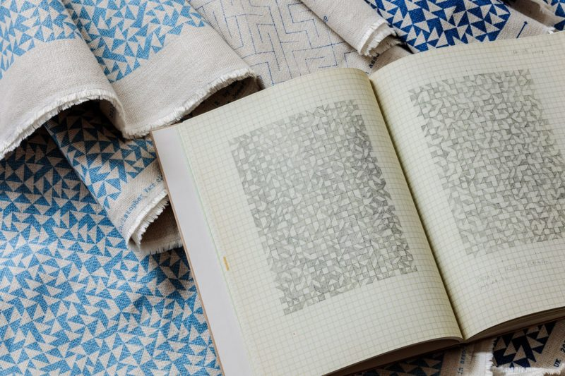 Anni Albers - Textiles pictured with pages from her Notebook, 1960–1970