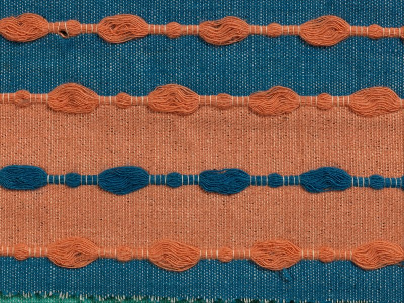 Otti Berger - Book (detail), mid 1930s, cotton, 9.5 x 24.1cm (3 3/4 x 9 1/2 in.)