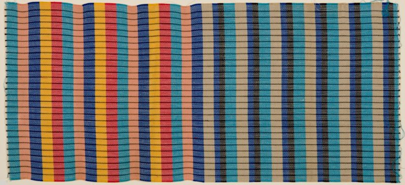 Otti Berger - Sample of Upholstery for Tubular Furniture, 1932-1937, Double weave of cotton and plastic fibers, 32.7 x 72 cm (12 7/8 x 28 3/8 in.), Harvard Art Museums