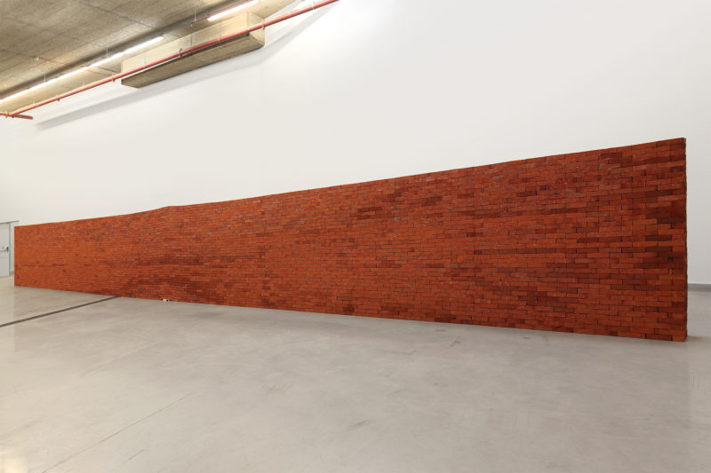 Jorge Méndez Blake – The Castle, 2007, Bricks, edition of Franz Kafka's 'The Castle', 2300 x 1750 x 400 cm