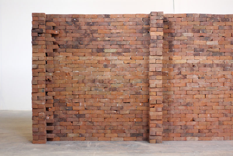 Jorge Méndez Blake – The Castle, 2007, Bricks, edition of Franz Kafka's 'The Castle' (detail), 2300 x 1750 x 400 cm