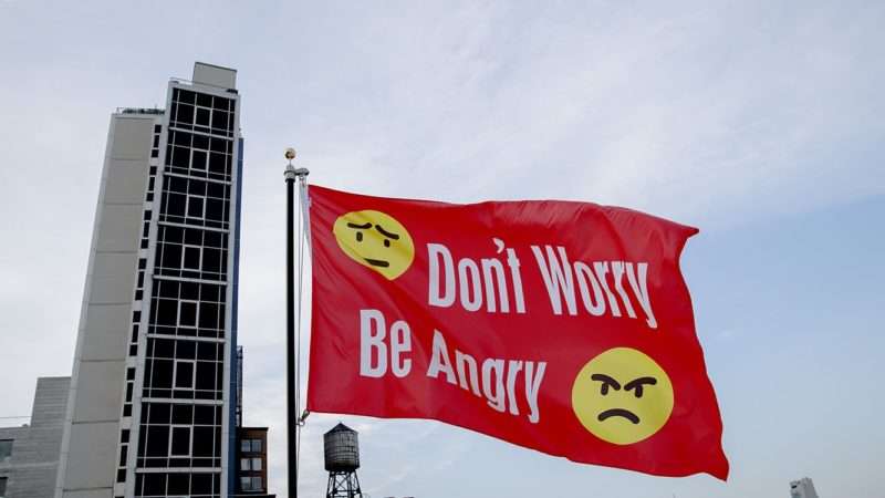 Jeremy Deller - Don't Worry Be Angry, 2017, flag for Creative Time