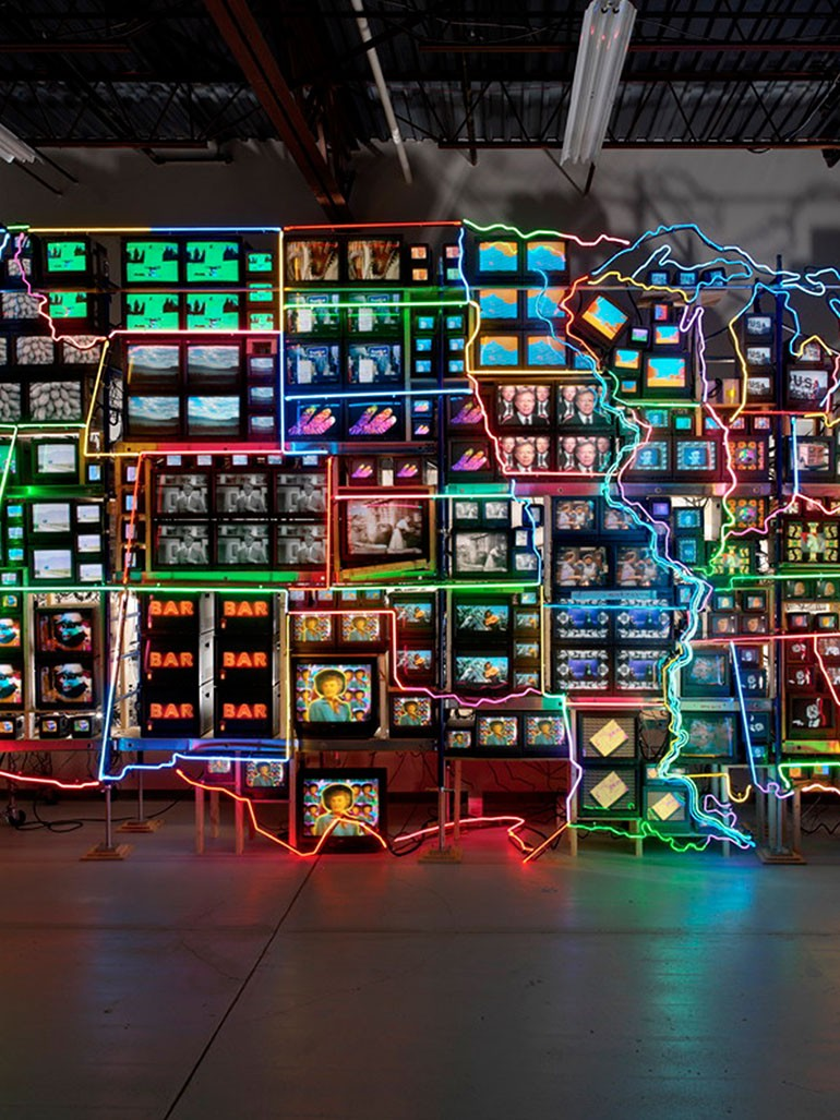 Nam June Paik's legendary Electronic Superhighway