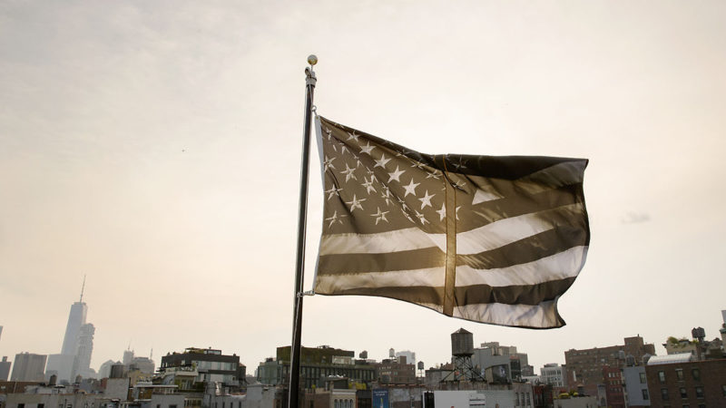 Robert Longo - Untitled (Dividing Time), 2017, flag for Creative Time
