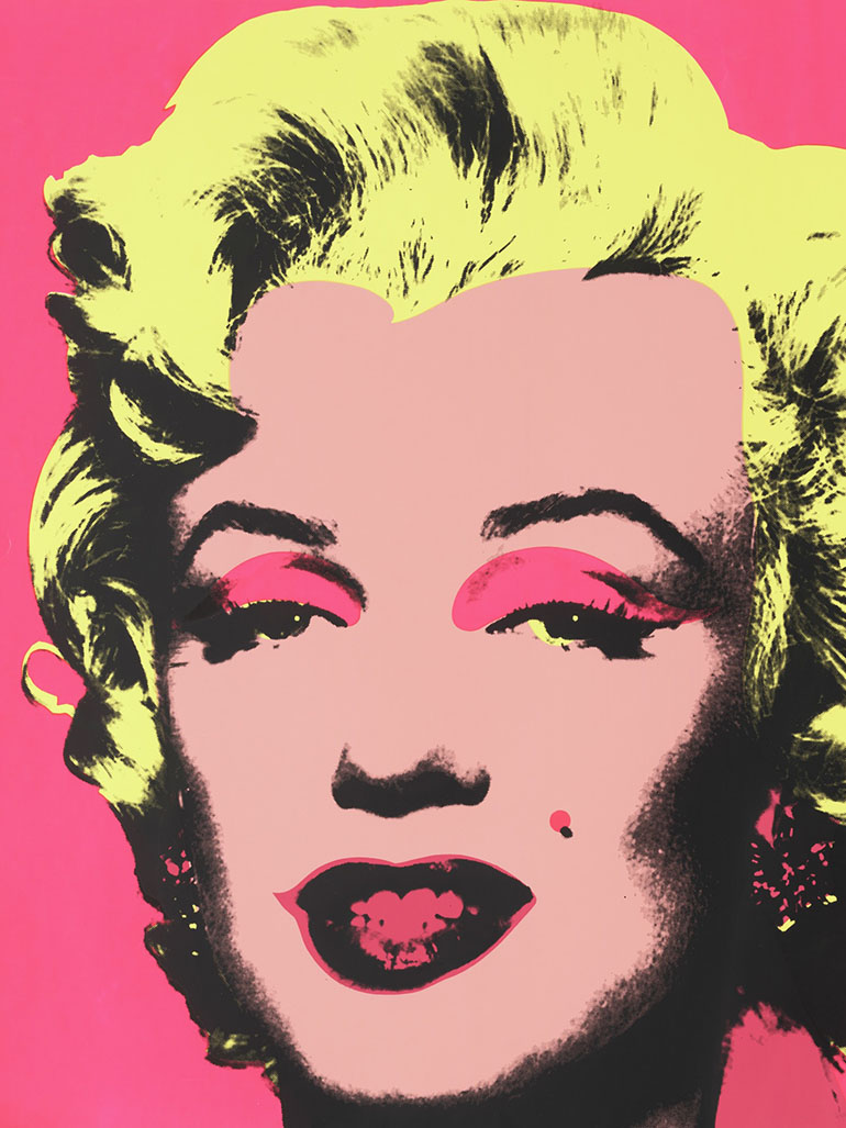 Why did Andy Warhol paint Marilyn Monroe?