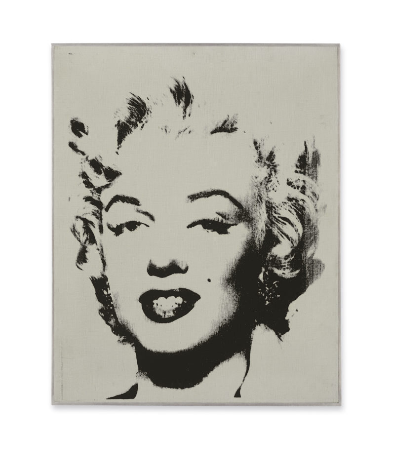 Andy Warhol - White Marilyn, acrylic and silkscreen ink on linen, 20 x 16 in. (50.8 x 40.6 cm.)