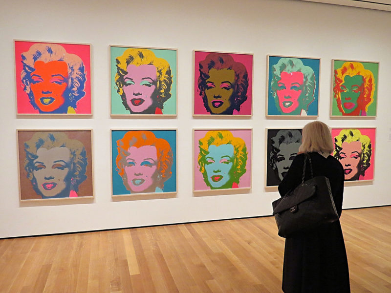 Andy Warhol's screen prints of Marilyn Monroe at the Museum of Modern Art in New York