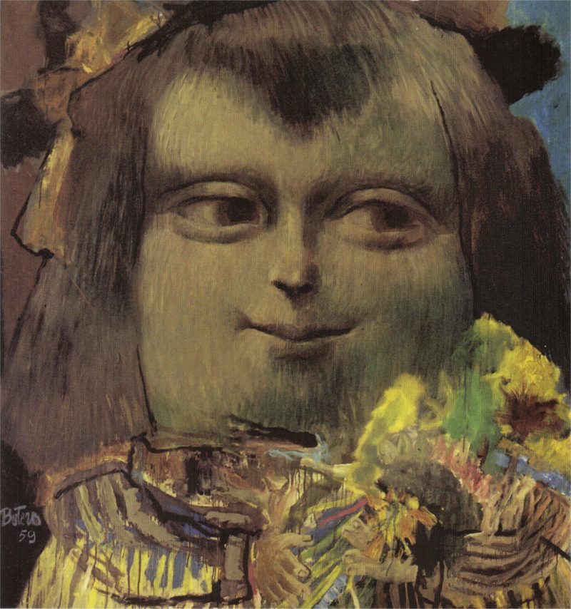 Fernando Botero - Mona Lisa, Age Twelve, 1959, Oil and tempera on canvas, 211 x 195.5 cm (6' 11 1:8 x 6' 5 in.)
